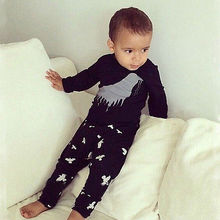 NWT Baby Kids Boys Spring Clothing Cotton Tops Shirt + Pants Outfits Pajamas Set(China (Mainland))