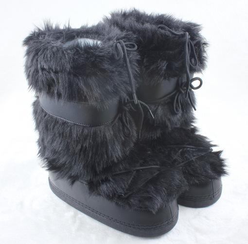 fur moon boots flat heels suede boots winter shoes women chaussure femme snowshoes bottes winter. Black Bedroom Furniture Sets. Home Design Ideas