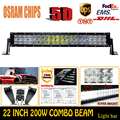 200W 5D 22 Inch ForOsram Spot LED Work Light Bar High Quality External Car Lights Off