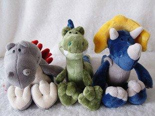 Dinosaur plush toy Christmas gift soft toys stuffed plush toy 3pcs/lot factory supply wholesale and retails freeshipping(China (Mainland))