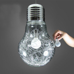 Size 30*48cm Stylish Big Bulb Modle Dining Room Pendant Lamp Free ShippinG New Modern Aluminum Wire inside Glass ball Fixture<br><br>Aliexpress
