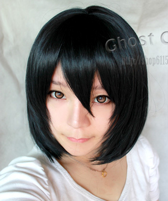 new arrival 50cm Attack On Titan Mikasa Ackerman Halloween Synthetic Hair peruca Cosplay Anime Wigs<br><br>Aliexpress
