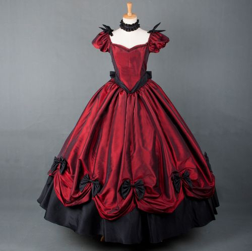 Gothnic Lolita Gown Vampire Gothic Victorian Dress steampunk dress Medieval Halloween Costume women summer style prom Dress