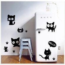 New 45 * 60cm Removable Wall Decal Wall Sticker Black Cats DIY Wallpaper Art Decals Mural for Room Decoration(China (Mainland))