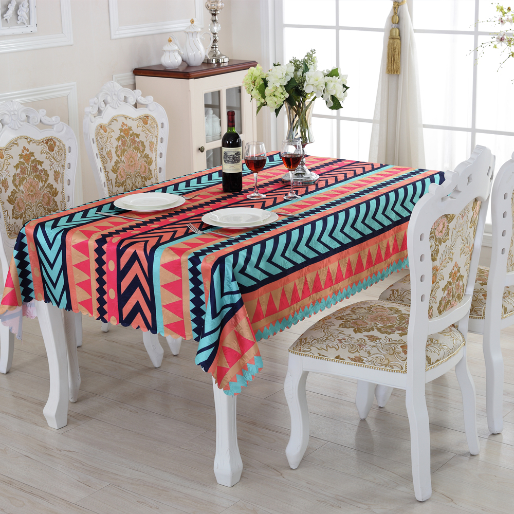 Creative Stripe Rectangular Tablecloths Pretty Home Textile Products Waterproof Oilproof Table Cloth Acceptable Custom ZM-9(China (Mainland))
