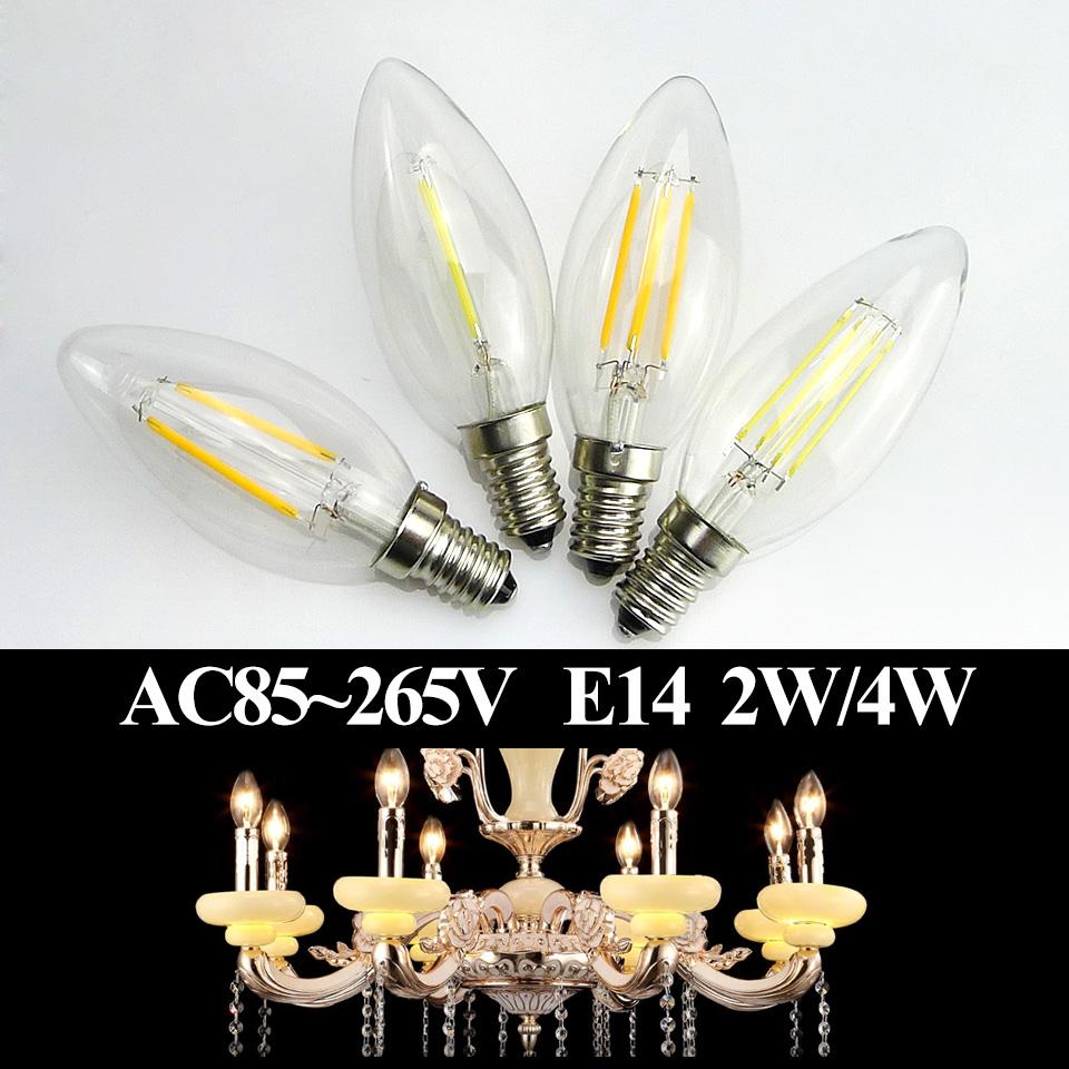 Christmas LED Candel Bulb E14 2w 4w Energy Saving LED Bulbs Candle Lights for Chandelier Fixture Warm Cool White AC110V 220V(China (Mainland))