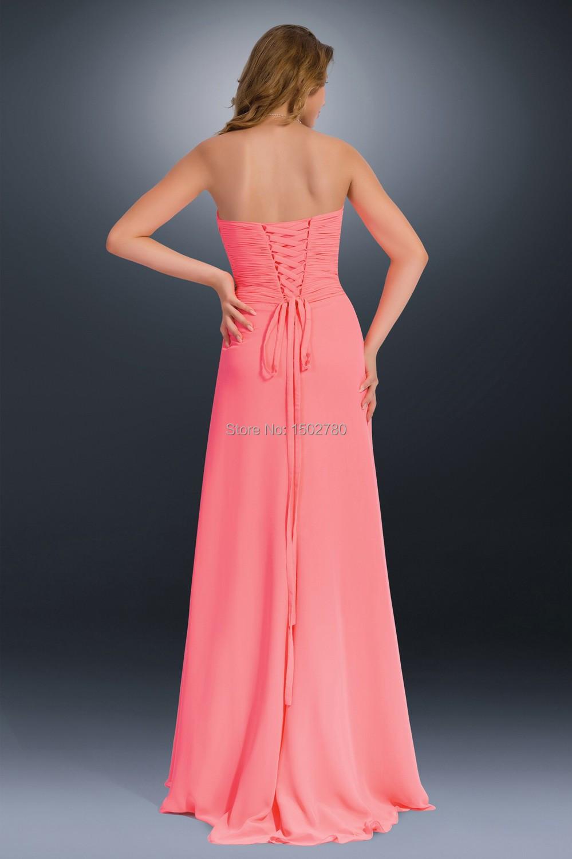 robes l gantes robe longue couleur corail pas cher. Black Bedroom Furniture Sets. Home Design Ideas
