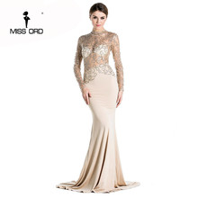 Buy Free Missord 2017 sexy long dress see high-necked long-sleeved bodycon maxi dress FT2537-2 for $28.70 in AliExpress store