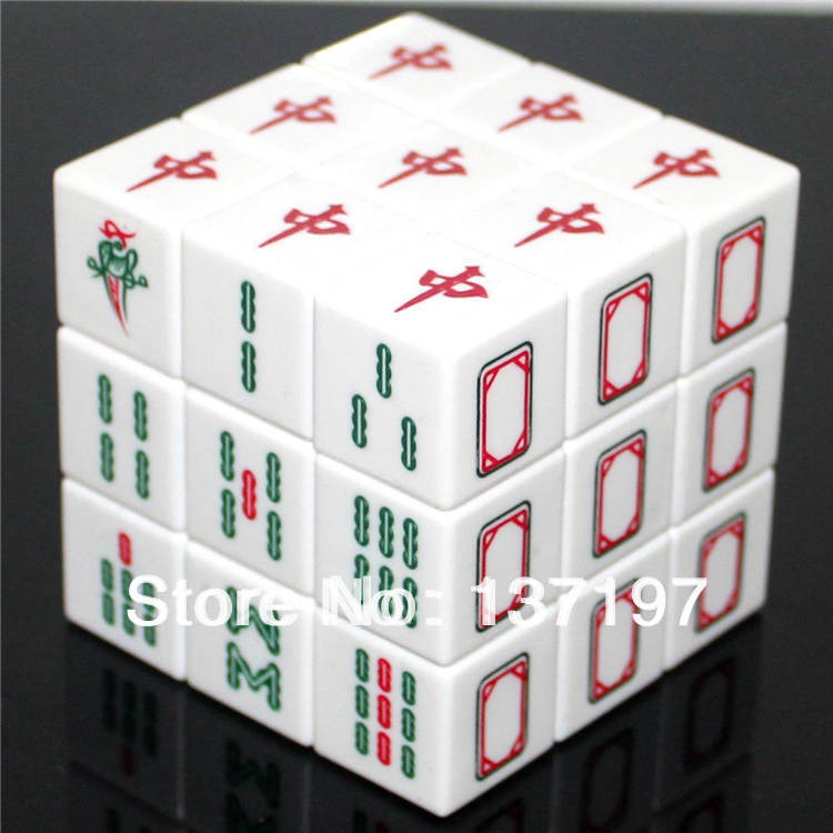 DiansSheng Mahjong 3x3x3 Magic Cube Puzzle 3x3 Mah Jong Speed White Twist Toy - Crazy store