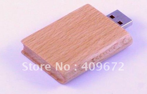 genuine capacity 2GB/4GB/8GB/16GB/32GB usb drive pen drive usb flash drive memory book wooden Free shipping wholesale 10pcs/lot(China (Mainland))
