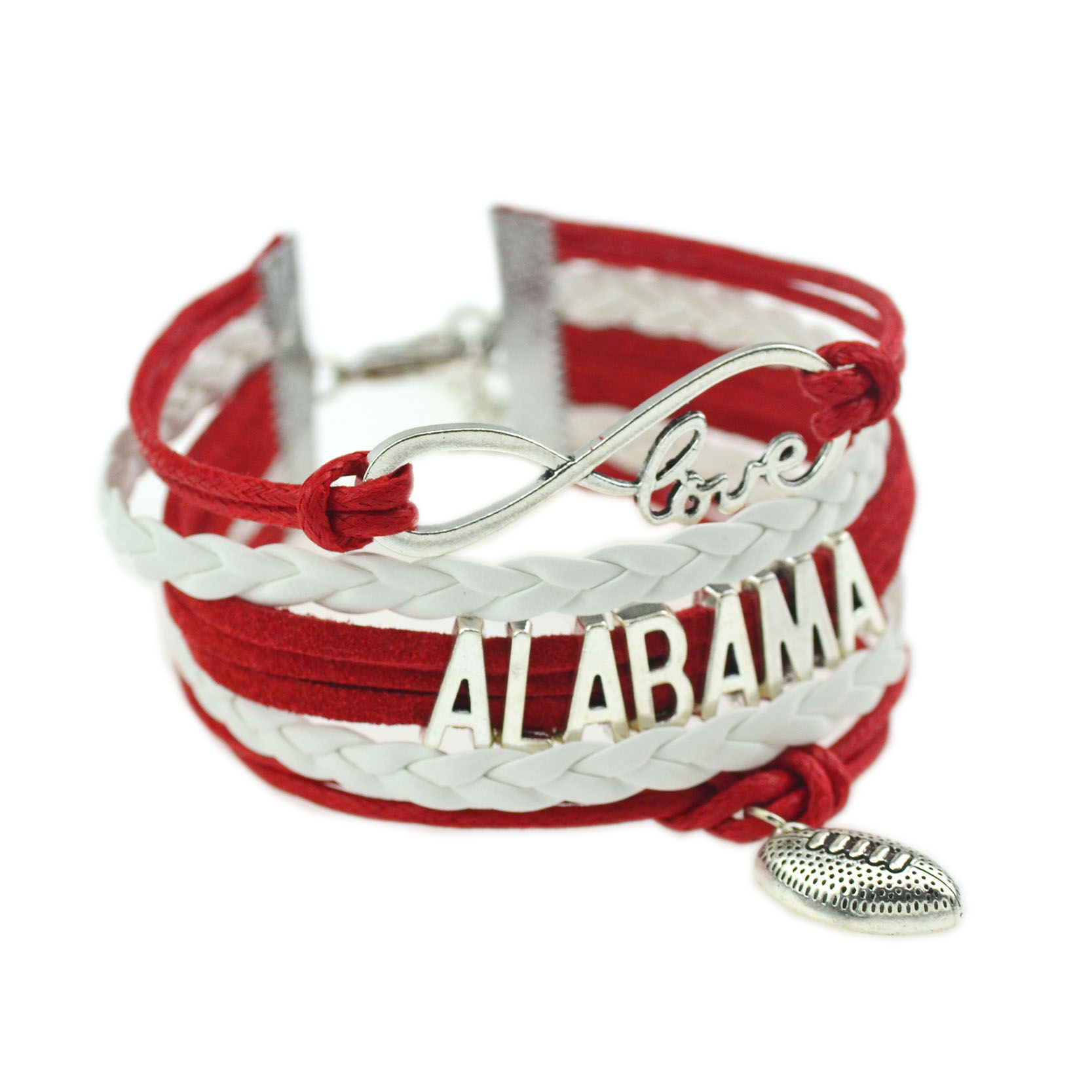 2016 New Arrival Super Bowl Vintage Alabama Rugby Leather Bracelets & Bangles Fashion Women & Man Jewelry Football Bracelet(China (Mainland))