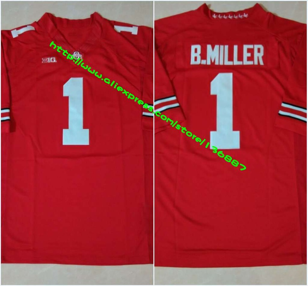 #1 Braxton Miller #15 Ezekiel Elliott #12 Cardale Jones #97 Joey Bosa,Ohio State Buckeyes NCAA College Football Limited Jerseys(China (Mainland))