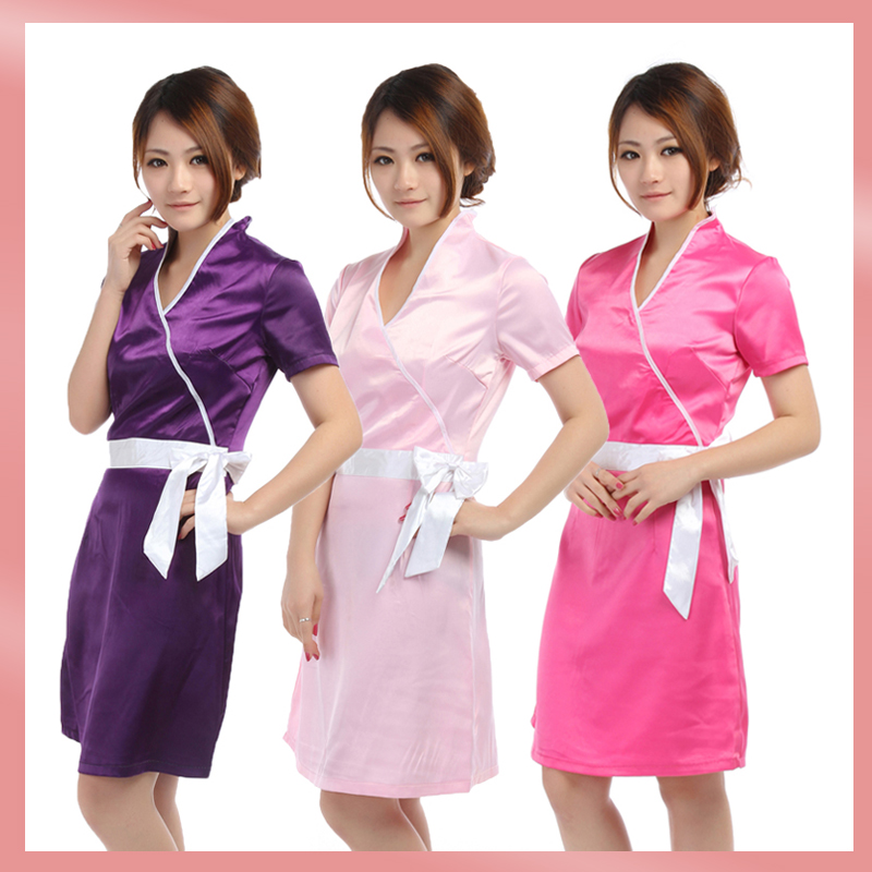Nail technician uniforms nail ftempo for Spa uniform south africa