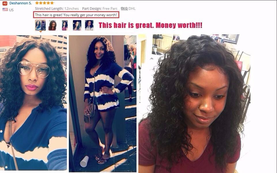 Lace Closure Brazilian Deep Wave Closure Brazilian Virgin Hair Free Part Brazilian Lace Closure 4×4 Lace Closures