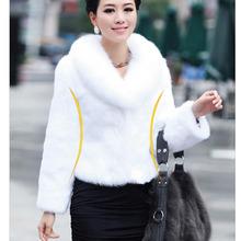 New 2015 Trendy Women Faux Fur Coats Black White Short Casual Slim Coat Winter Outerwear Nordic Nights Plus Size Coat  Q1600(China (Mainland))