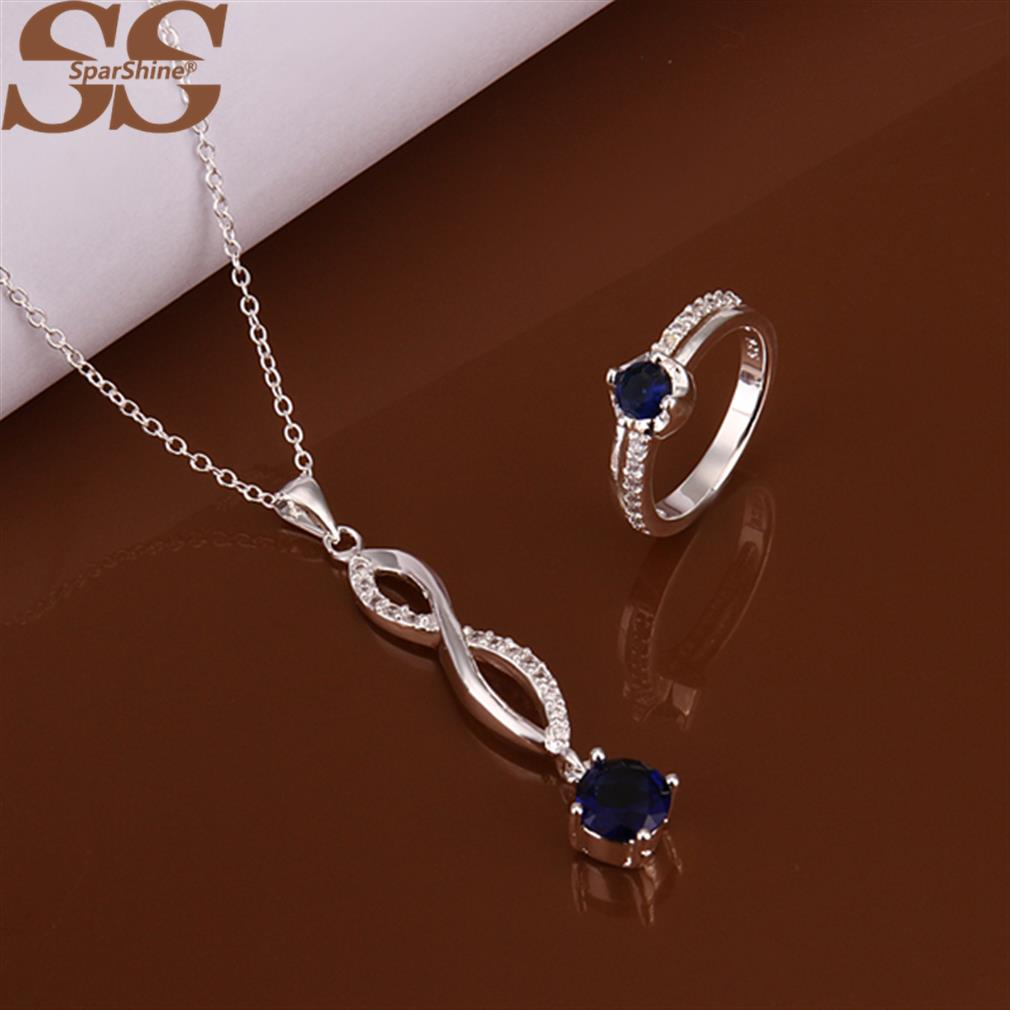 SparShine Necklace 925 Sterling Silver Jewelry Sets Rings Bracelets Jewerly Sets For Women Enamel Silver Jewellery Ouro(China (Mainland))