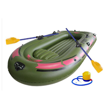 1 Set 3 - 4 Person Portable Inflatable Boat High Strength PVC Rubber Fishing Boat 240x137cm with Paddles Pump Patching Kit(China (Mainland))