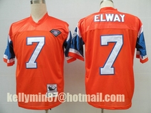 Stitiched,Denver Broncos ,Dennis Smith,John Elway,Terrell Davis,Steve Atwater,Shannon Sharpe,Peyton Manning,Throwback()
