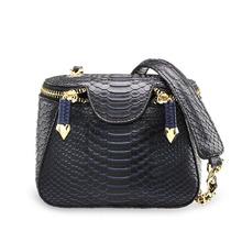2015 New Style Fashion snake skin PU leather messenger bags women handbag designer brand high quality