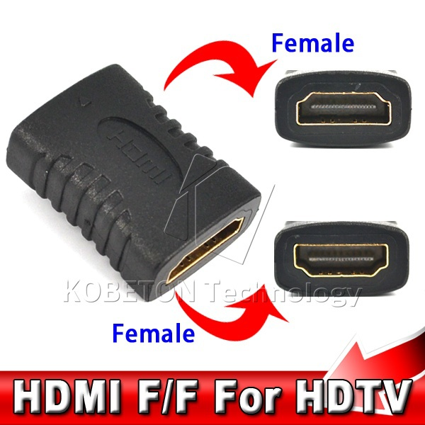 Hot Sale HDMI Female to HDMI Female Connector Extender HDMI Cable Cord Extension Adapter Converter for PC DVD 1080P HDTV(China (Mainland))
