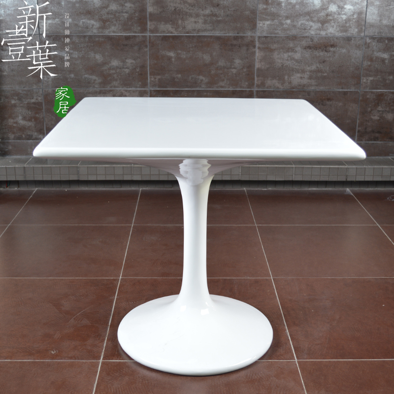 Simple ikea minimalist modern glass and steel design coffee table square table negotiating - Ikea dining tables for small spaces minimalist ...