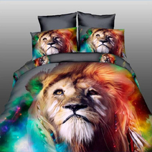 Bedding Set Printing Animals 3D Creative Lion Tiger Leopard Cute Cat Swan Bedclothes 4pcs Duvet Cover Sheets EMS Free Shipping(China (Mainland))