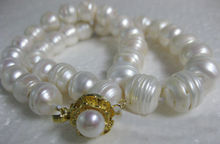 """beautiful AAA+ SOUTH SEA 14-13MM White weird PEARL NECKLACE 14K 18""""(China (Mainland))"""