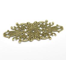 8SEASONS 30 Antique Bronze Filigree Flower Wraps Connectors Embellishments Findings 8.5x3.4cm (B18553)(China (Mainland))