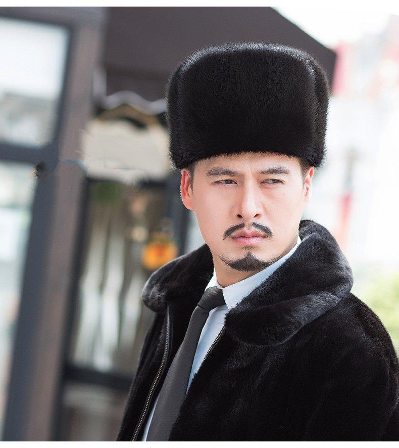 Genuine Ranch Raised Premium Mink Fur Mens Winter Russian Ushanka Trapper Hats 2 Colors Men Bomber Earflap Caps Free ShippingОдежда и ак�е��уары<br><br><br>Aliexpress
