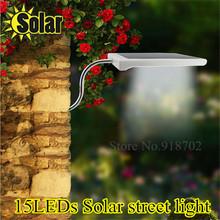 NEW Super bright LED Solar Lamp Sensor Waterproof Solar Light 15LEDs Street Light Outdoor Path Wall Lamp Security Spot Lighting(China (Mainland))