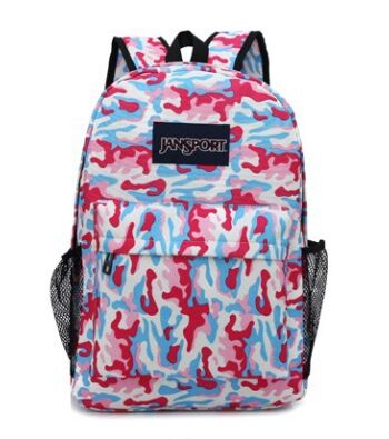 2015 new Korean style camouflage canvas backpacks wholesale 4 colors fashion leisure travel women backpacks children school bags(China (Mainland))