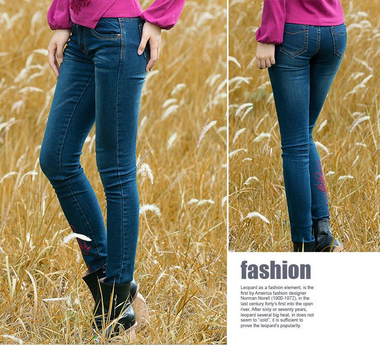 Autumn Fashion Women Skinny Mid Waist Jeans Casual Denim Plus Size Full Length Jeans Spring Summer 26-31