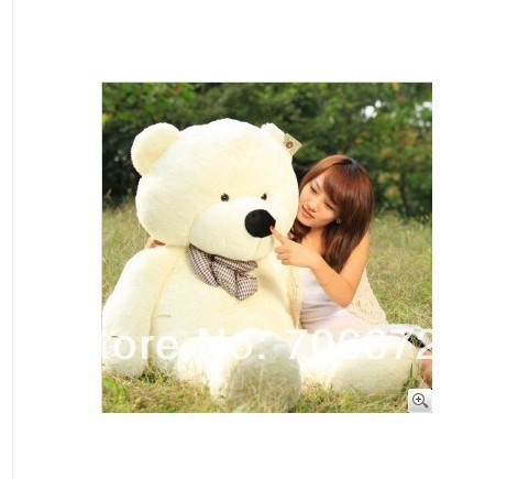New stuffed white teddy bear Plush 240 cm Doll 94 inch Toy gift wb8419(China (Mainland))