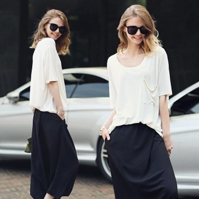 Новую одежду весной женщин костюмы 2016 широкий свободного покроя чистые цвета 2 ...