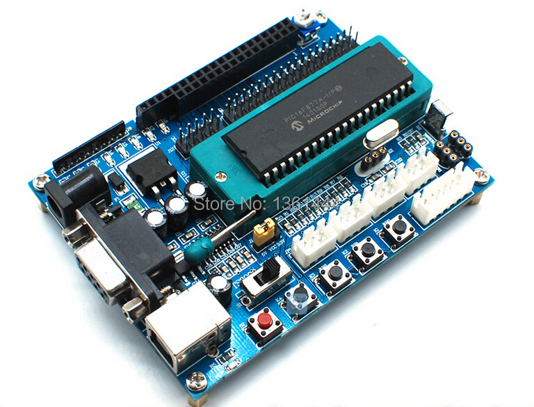 PIC development board PIC minimum system board PIC16F877A experimental development board board(China (Mainland))