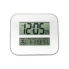 Big Number LCD Digital Wall / Table / Desktop Alarm Clock with Snooze,Calendar,Temperature Thermometer&Humidity Hygrometer,WHITE(China (Mainland))