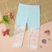 2016 Kids Girls Summer Modal Lace Floral Ballet Leggings Capris Pants Panties Hot Sale