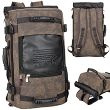 Authentic men canvas backpack Han Yinglun travelling bag multi-functional sports bag men and women students backpack(China (Mainland))