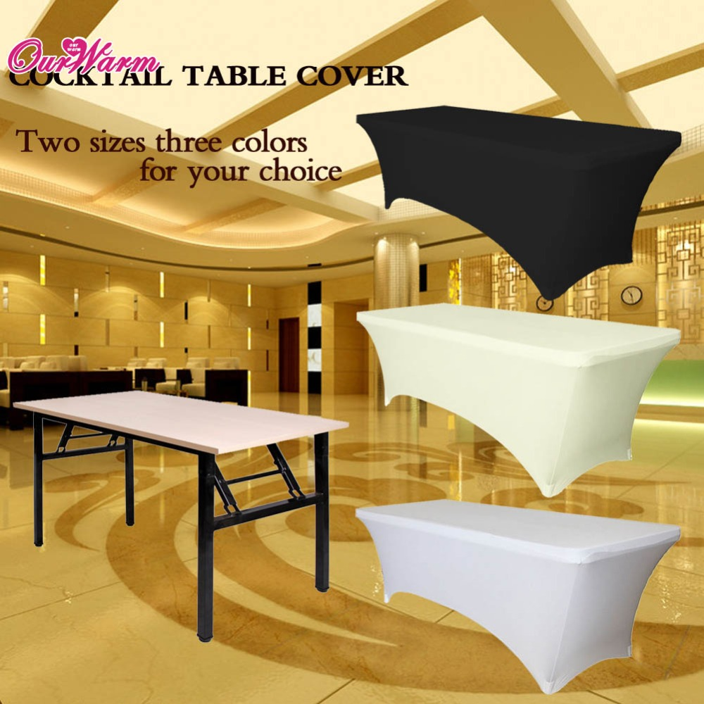 Rectangular Table Cover Spandex Fabric Tablecloth Stretch Bar Bistro for Wedding party Decorations 120 x 60 x 75cm(China (Mainland))