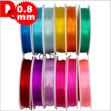 0.8MM*8M DIY handmade accessories material Super Strong Rally rope transparent elastic fishing line beaded wire AU073