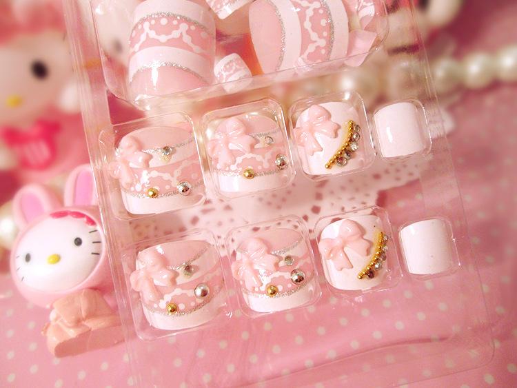 Japanese colorful false nails for toe pure color 3D full nail tips short size fake nails for toe Nail art tools(China (Mainland))
