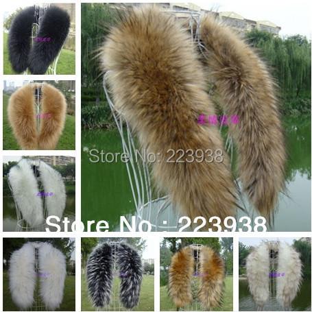 Hot Selling! Winter Women's Faux Fur Scarf Raccoon Fur Cap Fur Collar False Collar Scarves(China (Mainland))