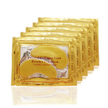 20pcs=10packs 2017 Gold Crystal Collagen Eye Mask Hotsale Eye Patches For The Eye Anti-Wrinkle Remove Black Eye Face Care(China (Mainland))