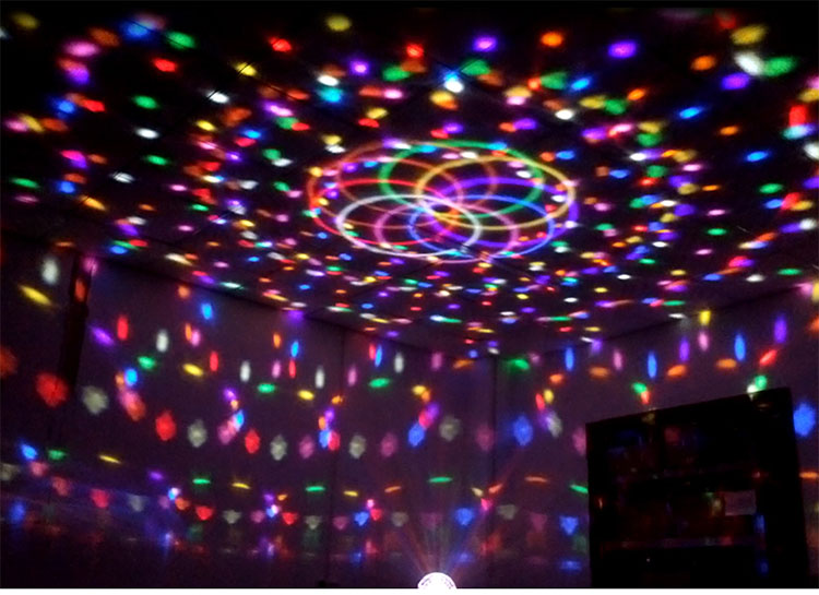 9-color outdoor stage lighting Sound magic crystal ball lights ktv bar colorful flash light laser show<br><br>Aliexpress