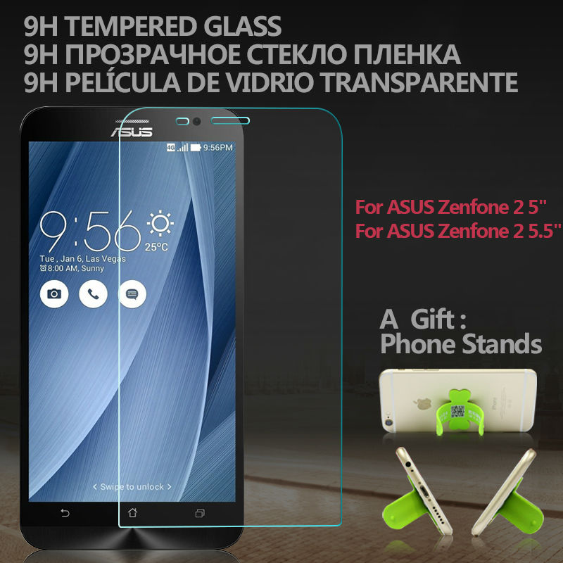 """Premium Tempered Glass Screen Protector for ASUS Zenfone 2 ZE550ML ZE551ML 5"""" 5.5"""" 9H 0.33mm Anti Scratch Protective Film(China (Mainland))"""