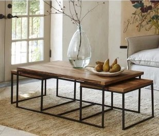 American country to do the old wrought iron coffee table living room coffee table LOFT iron wood furniture retro ecological coff(China (Mainland))