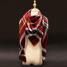 Za Winter luxury Brand Plaid Cashmere Scarf Women Oversized Blanket Scarf Wrap long Wool Scarf Women Pashmina Shawls and Scarves(China (Mainland))