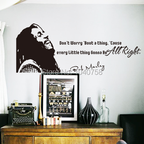 Http Www Aliexpress Com Item Bob Marley Don T Worry Bout A Thing Vinyl Wall Art Inspirational Quotes And Saying Home 1638087062 Html
