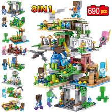 27 стилей Minecrafted пещера, строительные блоки маленького размера идущие LegoING Minecrafted аминальные Alex экшн фигуры кирпичные игрушки для детей(China)