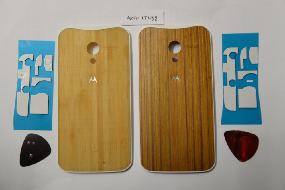 Original Wood Cover For Motorola Moto X XT1058 XT1060 XT1052 Back Houing Cover Battery Door With Tools +Sticker, Free Shipping(China (Mainland))